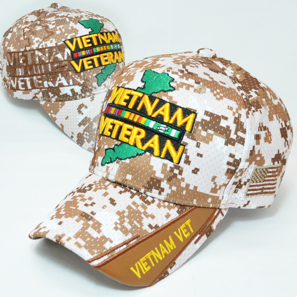 MEMI-243 NEW MESH VIETNAM VET BROWN