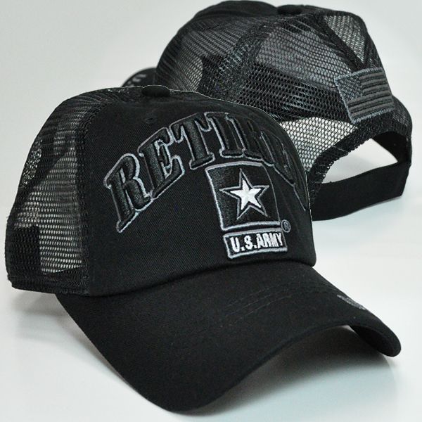 TRMI-355 ARMY RETIRED TRUCKER BLKBLK