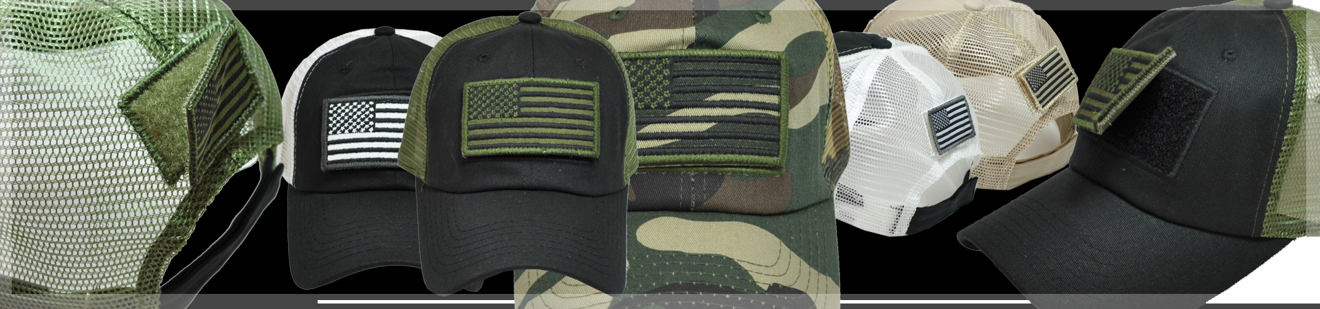 USA FLAG PATCH TRUCKER CAP