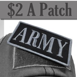 ARMY PATCH GREY