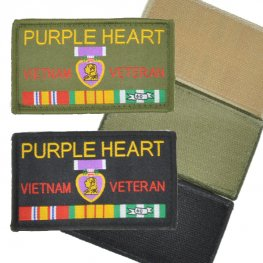 MI-311 PURPLE HEART VIETNAM VETERAN PATCH