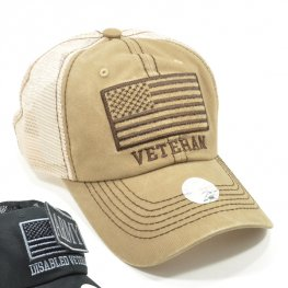 MT-001 VETERAN PLAIN VELCRO PATCH CAP KHAKI