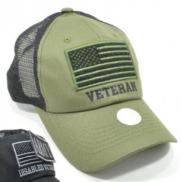 MT-001 VETERAN PLAIN VELCRO PATCH CAP OLIVE