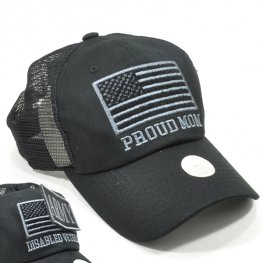 MT-002 PROUD OF MOM PLAIN VELCRO PATCH CAP