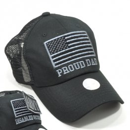 MT-003 PROUD OF DAD PLAIN VELCRO PATCH CAP