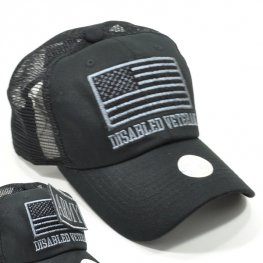 MT-004 DISABLED VETERAN PLAIN VELCRO PATCH CAP