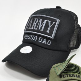 MT-103 ARMY PROUD DAD PATCH CAP BLACK