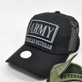 MT-104 ARMY DISABLED VETERAN PATCHCAP BLACK