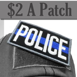 POLICE BLUE LINE PATCH