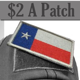 TEXAS FLAG PATCH COLOR
