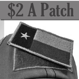 TEXAS FLAG PATCH GREY