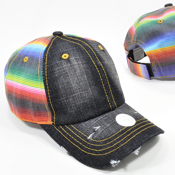 003-SERAPE BLACK DENIM